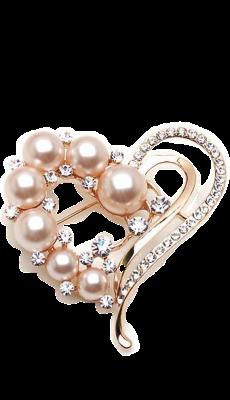 pansy  une tr?s belle broche perles ros?s
