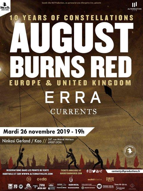 AUGUST BURNS RED + ERRA + CURRENTS @LYON Ninkasi / Kao 190717033814439214