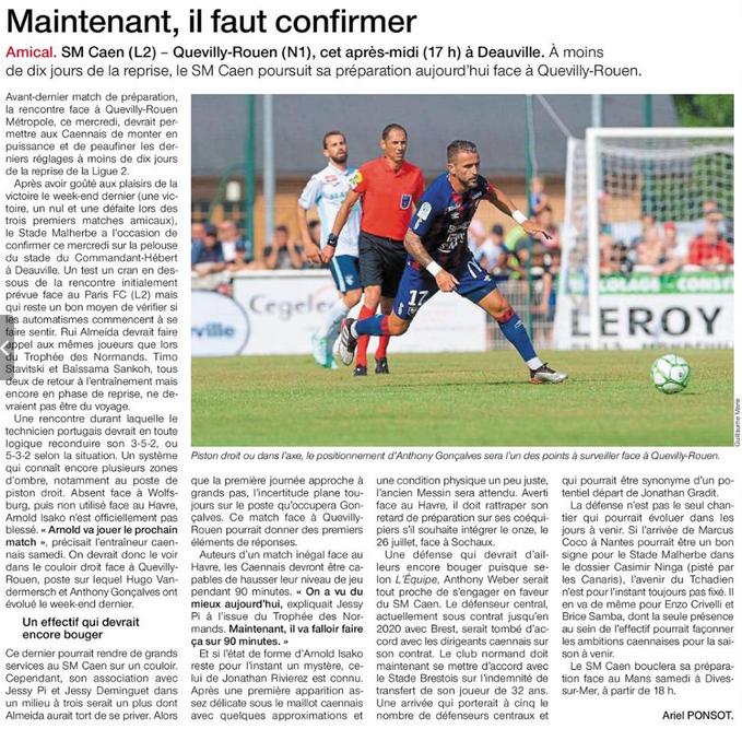 Reprise - Matchs Amicaux 2019/2020 - Page 2 19071707542129290