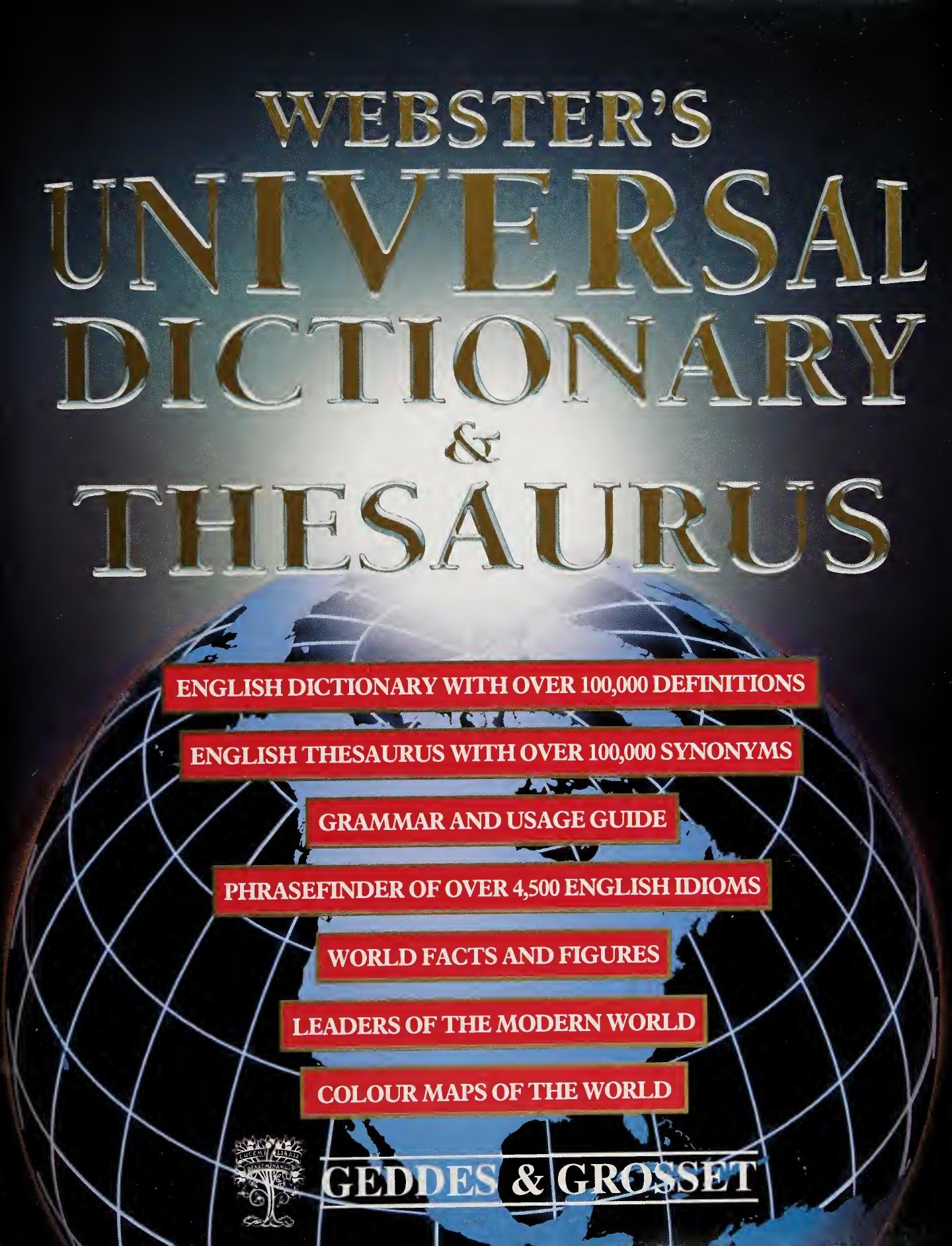 Webster's Universal Dictionary and Thesaurus-P2P
