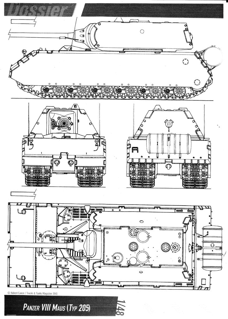 Panzer VIII MAUS type 205  CYBER HOBBY 1/35 ème - Page 2 190729033632316900