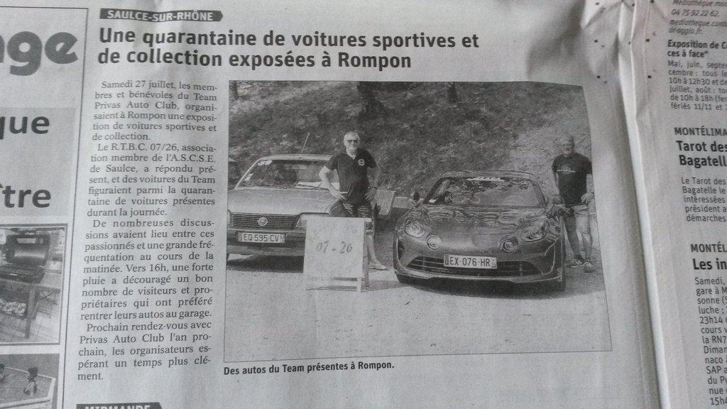 [07] 27/07/2019 Exposition de voitures à Rompon 190729090455265544