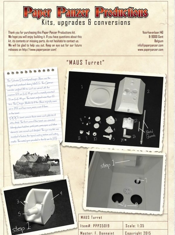 Panzer VIII MAUS type 205  CYBER HOBBY 1/35 ème - Page 2 190731064256861278