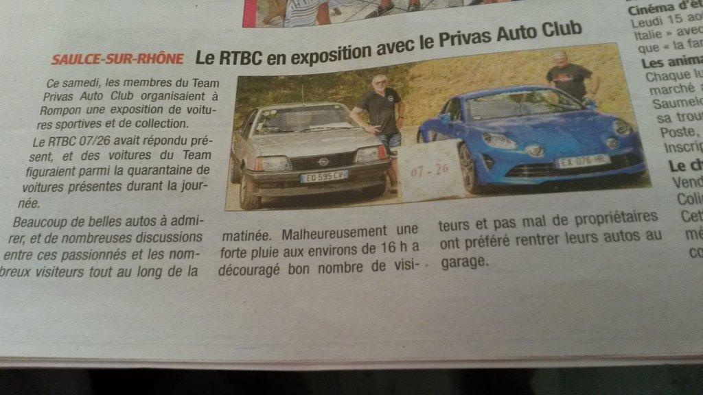 [07] 27/07/2019 Exposition de voitures à Rompon - Page 2 190801081623169728