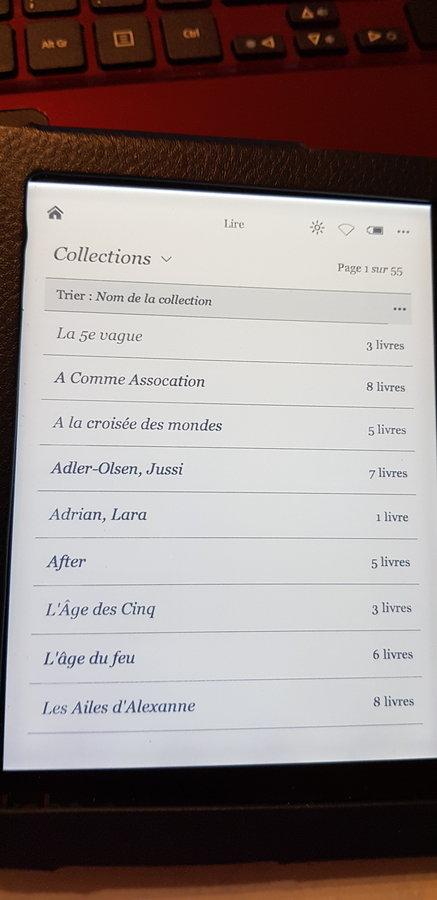 Kobo Aura-Collections