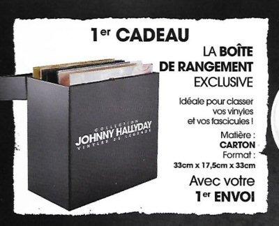 boite rangement vinyles de collection johnny hallyday