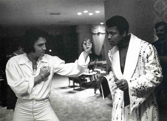 With Muhammad Ali in Las Vegas February 14, 1973