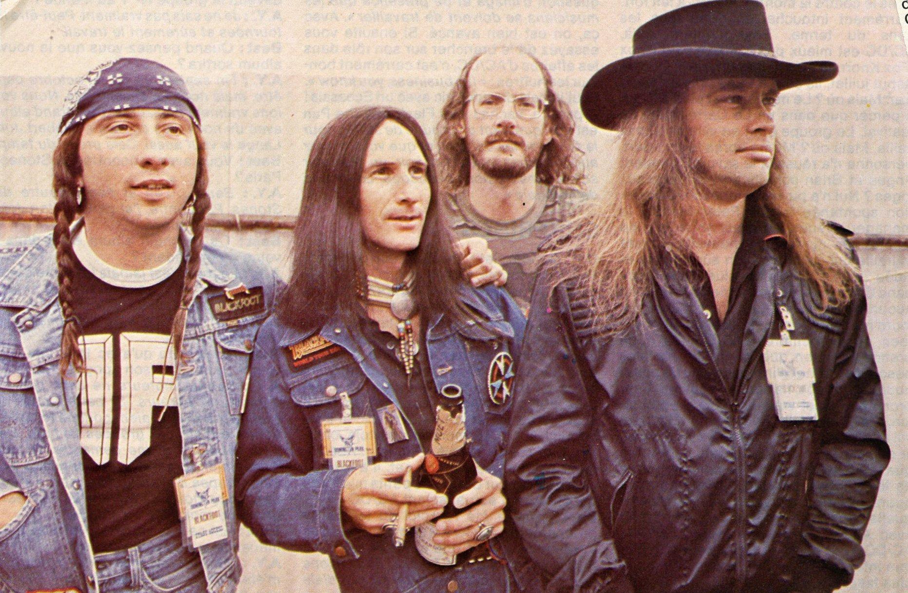 blackfoot devant le pavillon baltard 1982