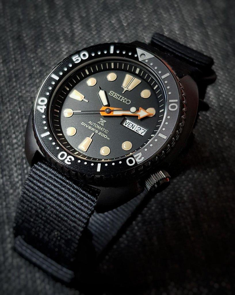[Vendue] Seiko Black Turtle SRPC49K1 insert céramique 190816023952432646
