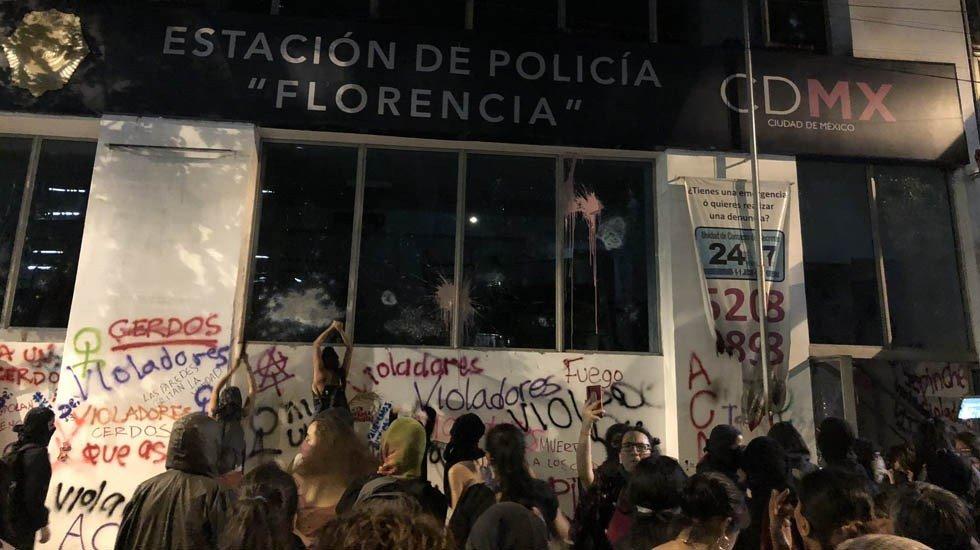 2019-08-16 Mexico Colère après viol par flics 16.