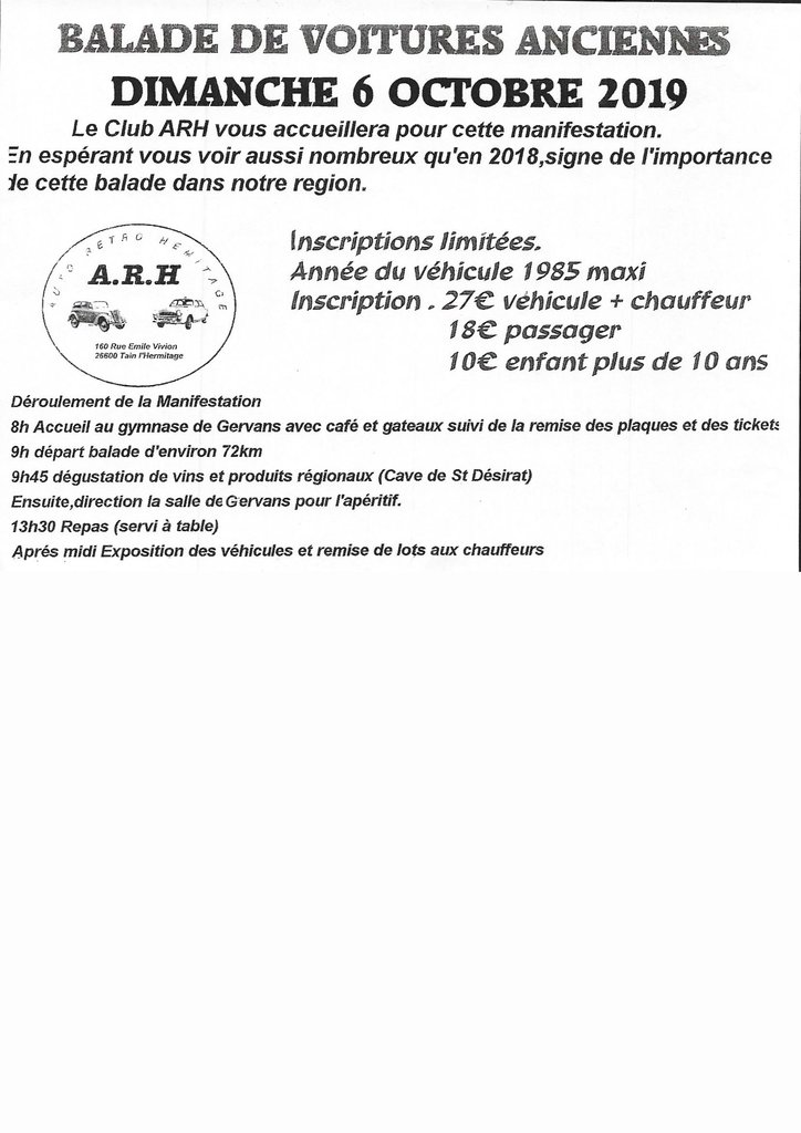 [26] 06/10/2019 -Balade de voitures anciennes à Gervans 190918112058654500