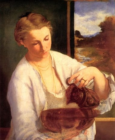 Femme-versant-de-leau-Manet