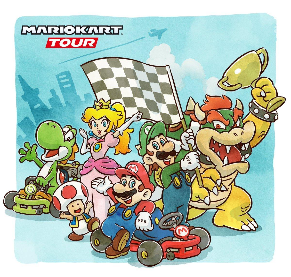 Mario Kart Tour Une Illustration Pour Celebrer Sa Sortie Mobile Nintendo Master