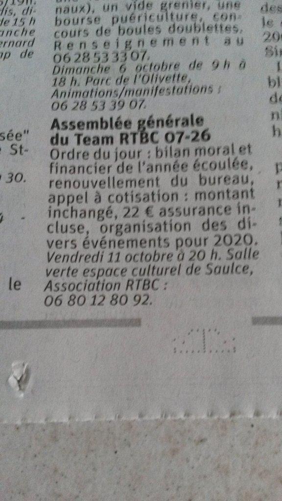 [26] Assemblée générale du Team RTBC 07-26 vendredi 11octobre 2019 Saulce sur Rhône 191002084014181382