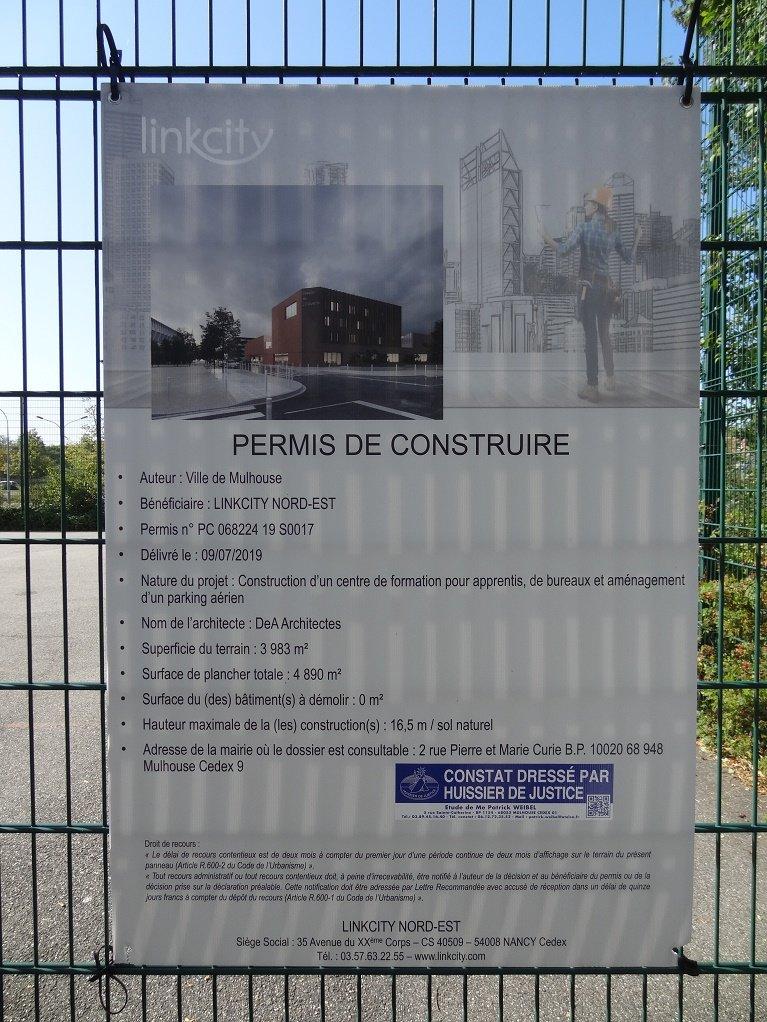 Affiche chantier futur UIMM 22 seêmbre 2019