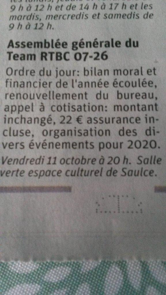 [26] Assemblée générale du Team RTBC 07-26 vendredi 11octobre 2019 Saulce sur Rhône 191008065601253346