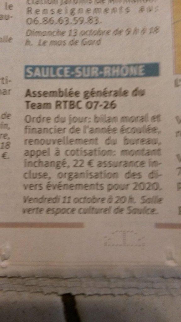 [26] Assemblée générale du Team RTBC 07-26 vendredi 11octobre 2019 Saulce sur Rhône 191010084810240387