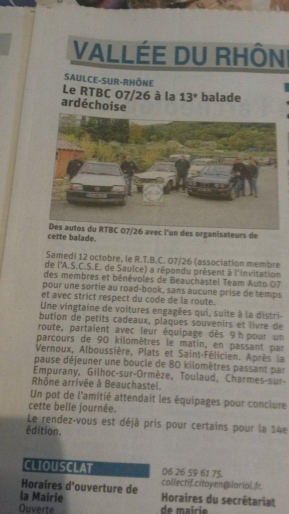 [07] 13ème balade Ardéchoise - St Georges les bains - Page 2 191014085342843437