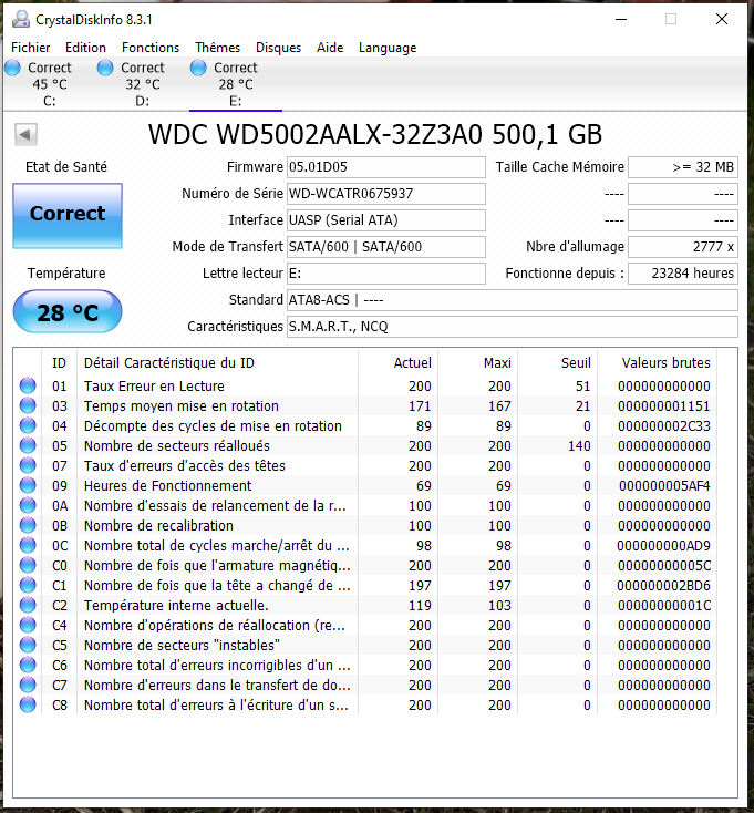 WD 500GB 3.5'