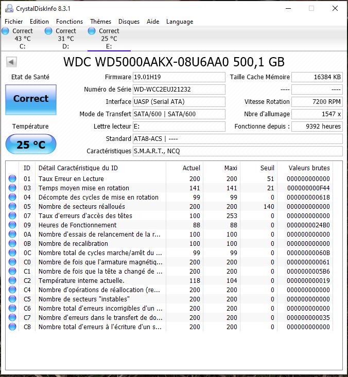 WD Blue 500GB 3.5'