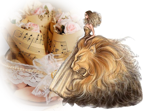 fille lion léo