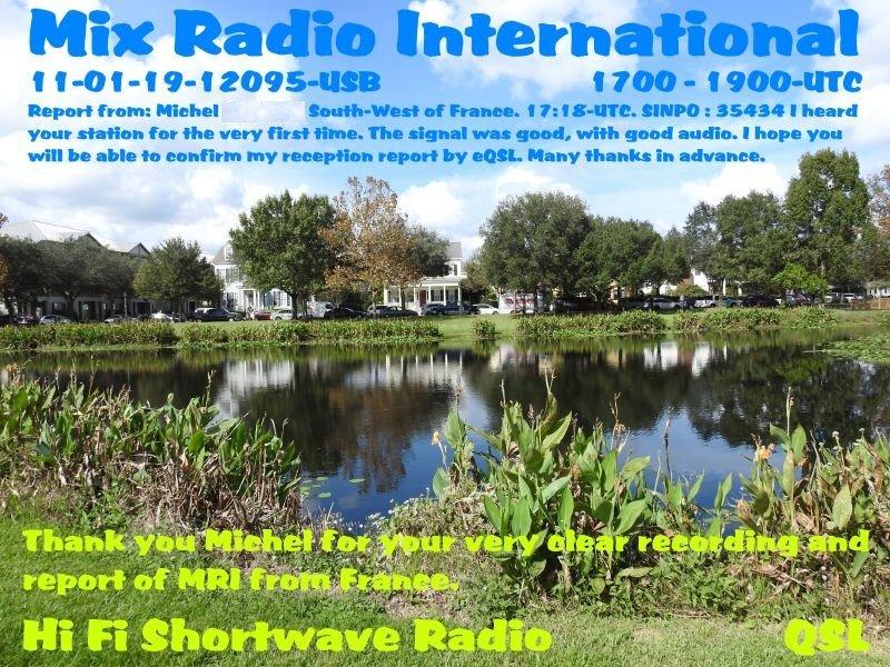 eQSL de Mix Radio International 191105103820117498