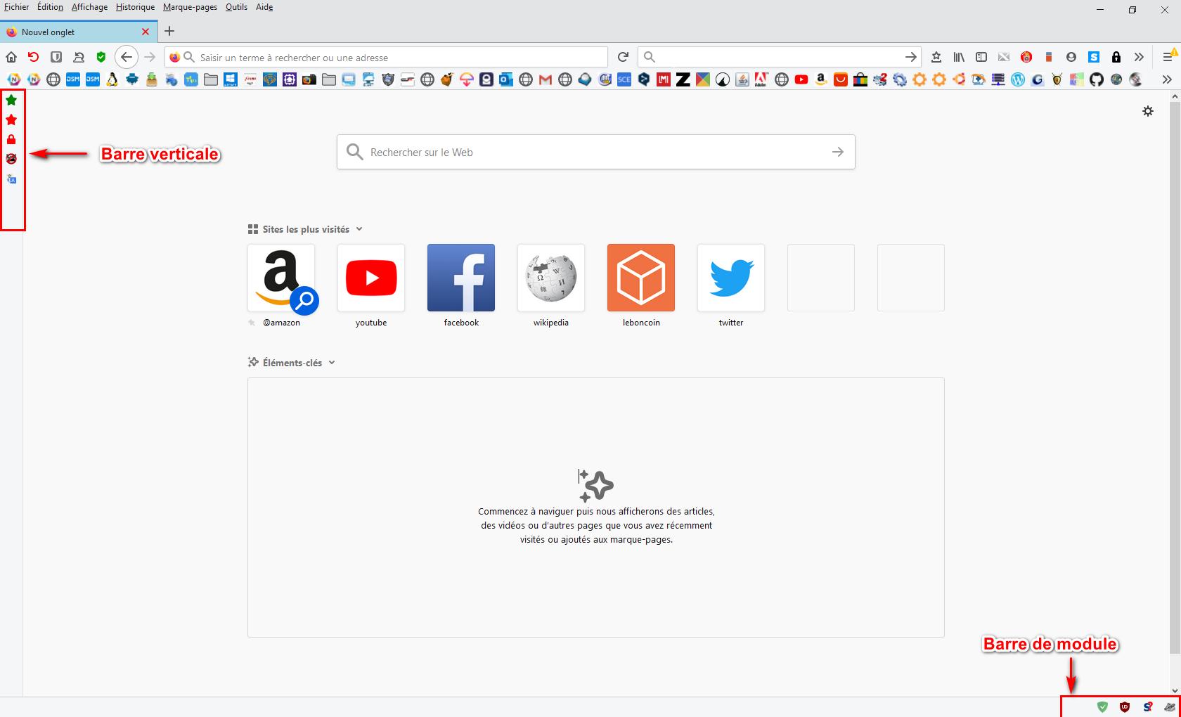 Firefox 70 avec barre module et barre verticale