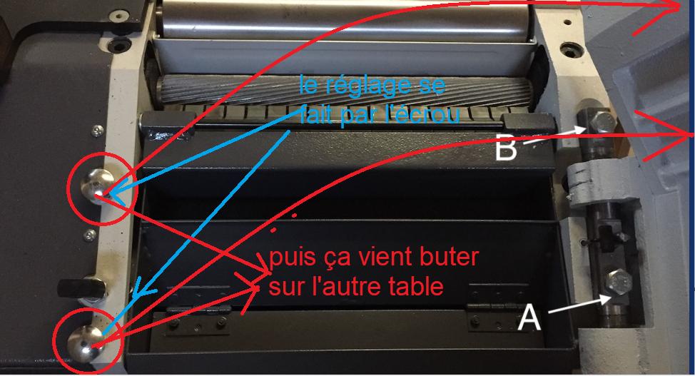 Réglage des tables d'une rabo dégau Holzprofi ADM320 191119081218189927