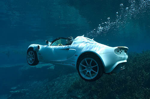 voiture sous l'eau