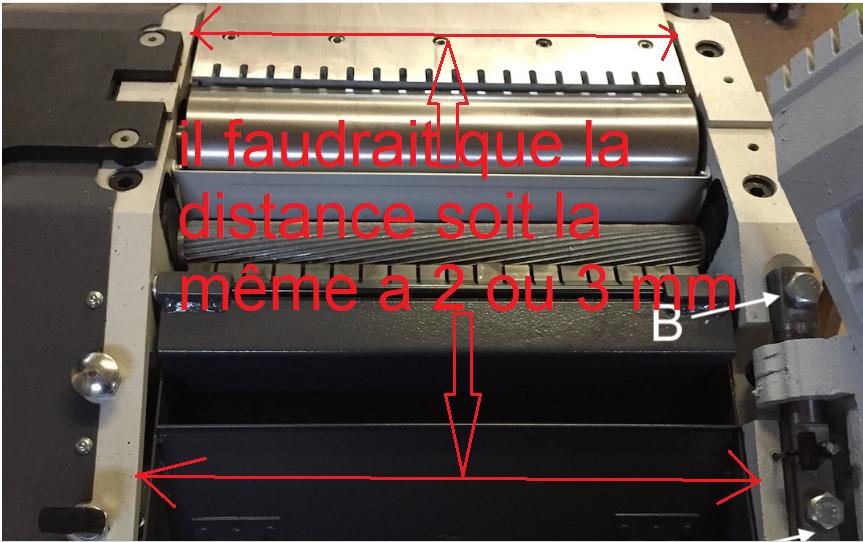 Réglage des tables d'une rabo dégau Holzprofi ADM320 191121114837634709