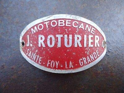 Plaque-ancienne-concessionnaire-Motobécane-J-Roturier-Sainte-Foy