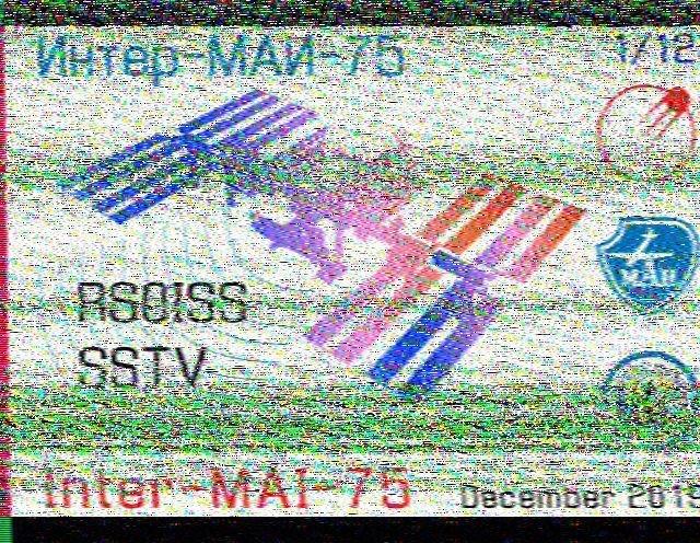 ISS SSTV de ce jour 5.12.19 191205090711991456
