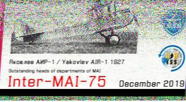Reception SSTV ISS du 06 dec 2019 191206092723648535