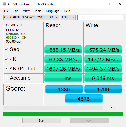 1 - AS SSD Benchmark
