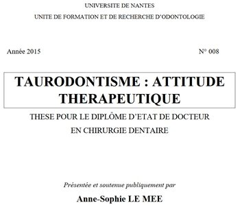taurodontisme_attitude thérapeutique