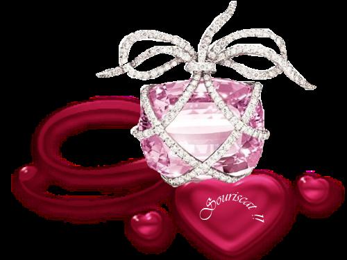 bijou rose diamant