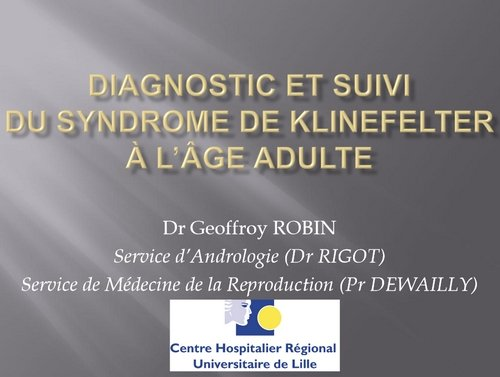 diagnoistic et suivi à l'âge adulte