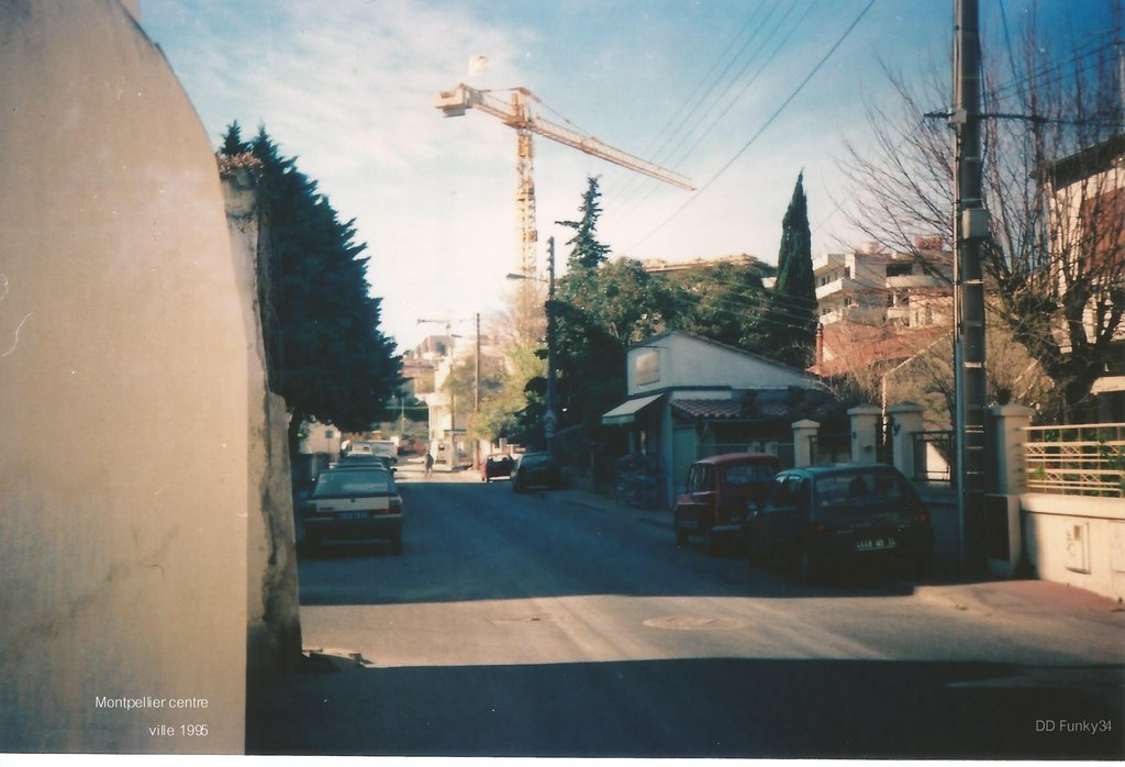 Montpellier centre ville 1995