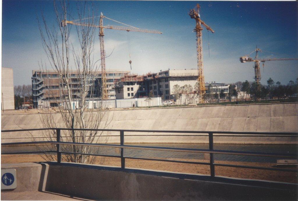 Construction fac de Richter avril 1995 Montpellier