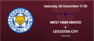 Angleterre - Barclays Premier League 2019 / 2020 191227094916957698