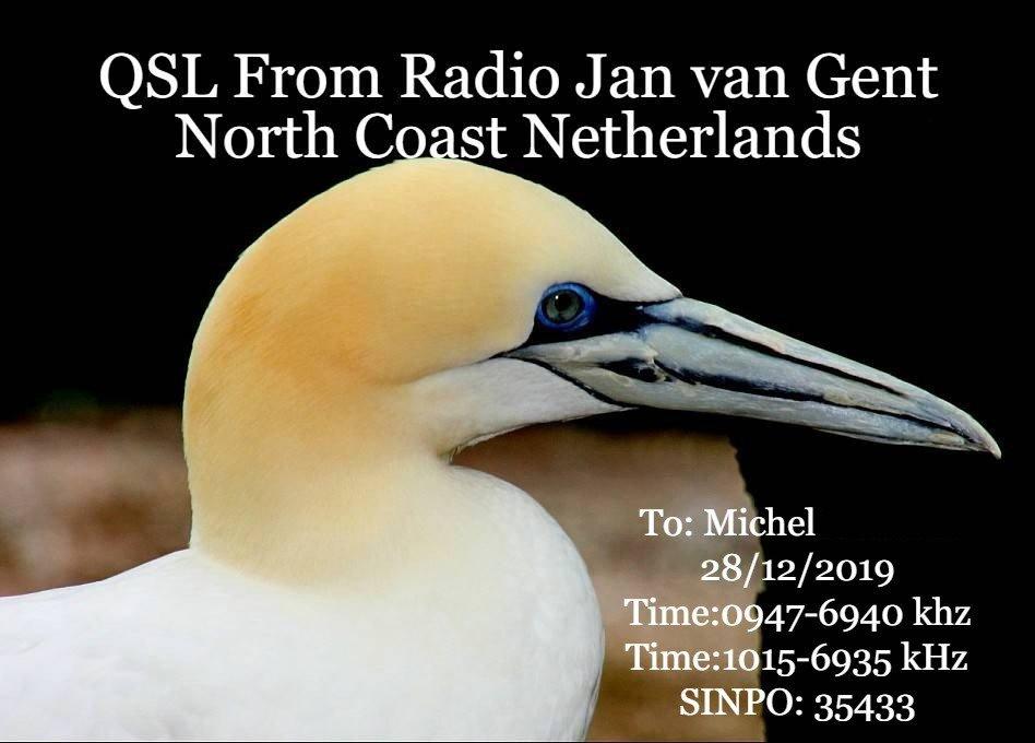 eQSL de radio JAN VAN GENT 19122909265289083