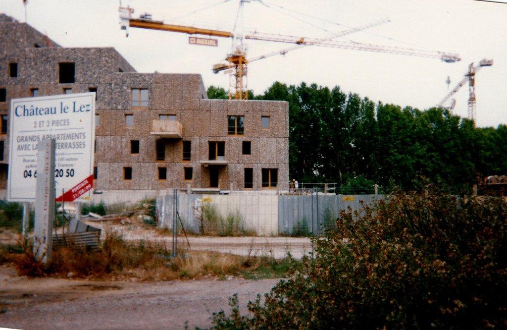 Construction résidence Chateau le Lez Montpellier 2000