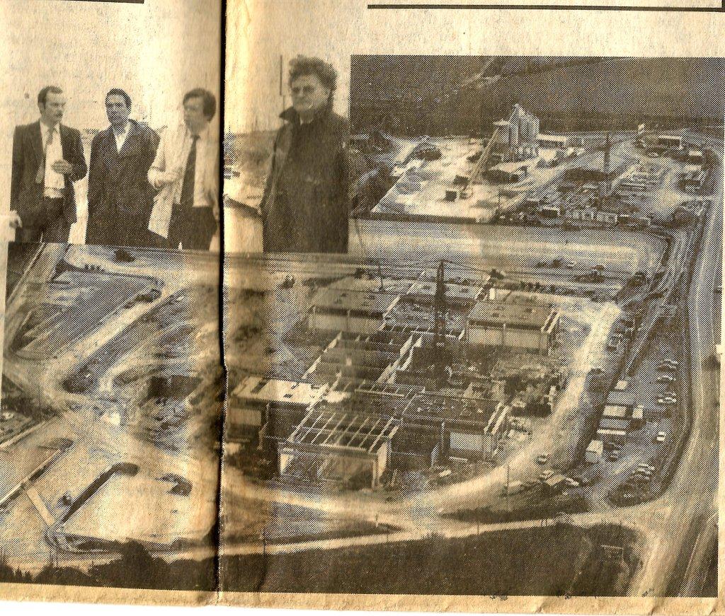 Construction dépot bus Montpellier 1984