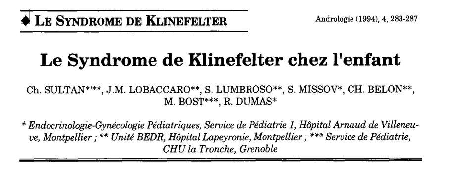 Le syndrome de Klinefelter chez l'enfant - CHU Grenoble - 1994 - PDF 200123112646315708