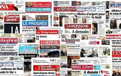 Pack Journaux (France) - Samedi 1er Février 2020