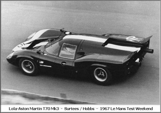 Pre?li 67 10 Lola Aston Martin  Surtees - Hobbs 10