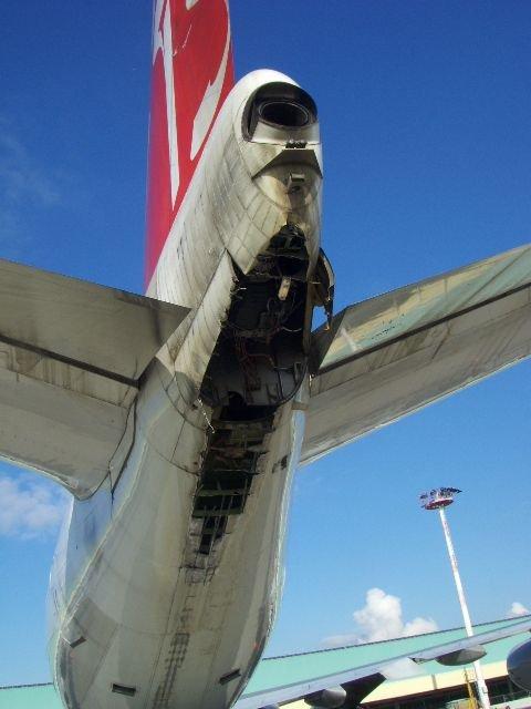 747 tail strike brussels