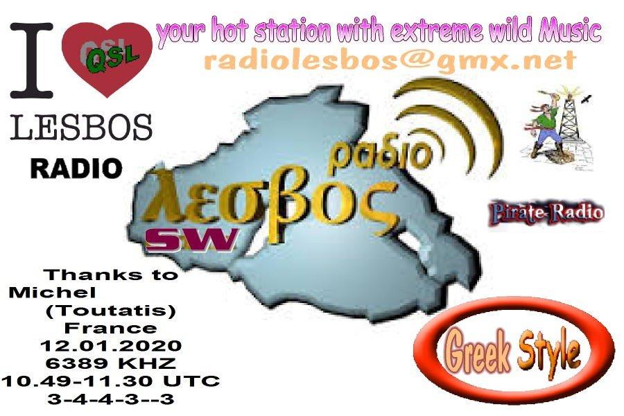 eQSL de Radio Lesbos (Grèce) 200205094201787458