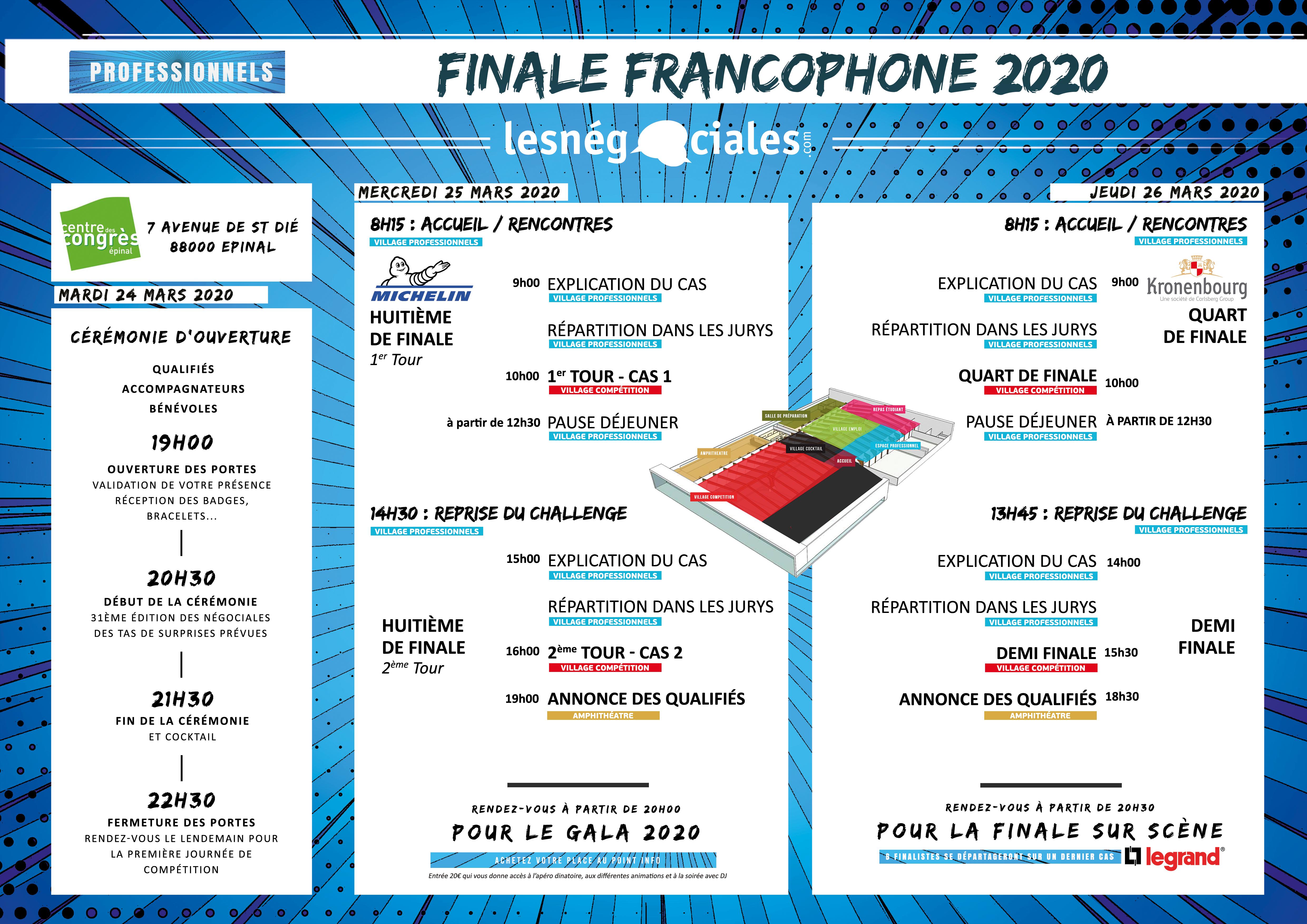 FINALE 2020 - Planning Professionnels