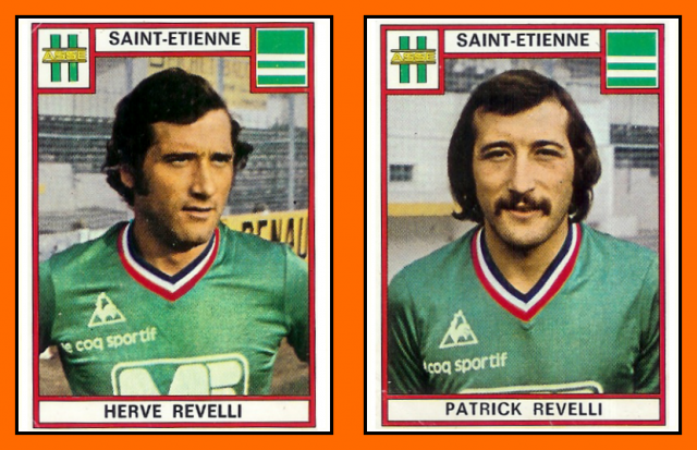 09-Hervé REVELLI & Patrick REVELLI - Panini AS st-etienne 1975+76